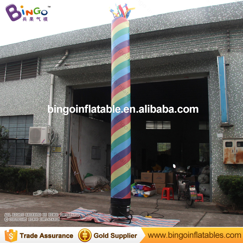 Single leg type 16.4 feet rainbow color inflatable air dancer for sale