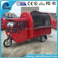 Water proof Ice Cream Kiosks Food Cart Ice Cream Cart/commercial Coffee Cart On Wheels Portable Ice Cream Van For Sale