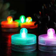 Colorful LED RGB Submersible Vase Base Candle Tea Light Remote Waterproof