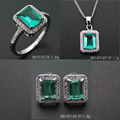 Green Spinel Jewelry Sets Sterling Silver Women Charm DR01407149S-BT-G