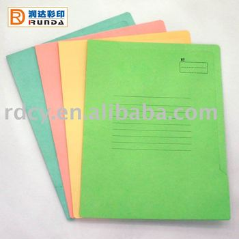 Colourful Recycled Paper Folder with Side Tab