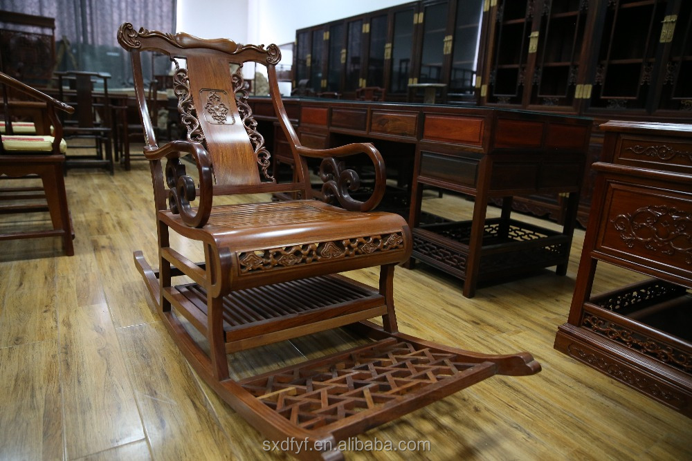 Rocking chair of Myanmar Pterocarpus macarocarpus Kurz