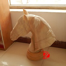 natural stone horse head for home decoration