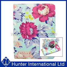 Printed Rose Garden Rotating Tablet Case For iPad 4