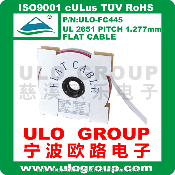 Grey Flat Cable UL2651 Pitch 1.27mm IDC connector 40-way 022 From ULO GROUP