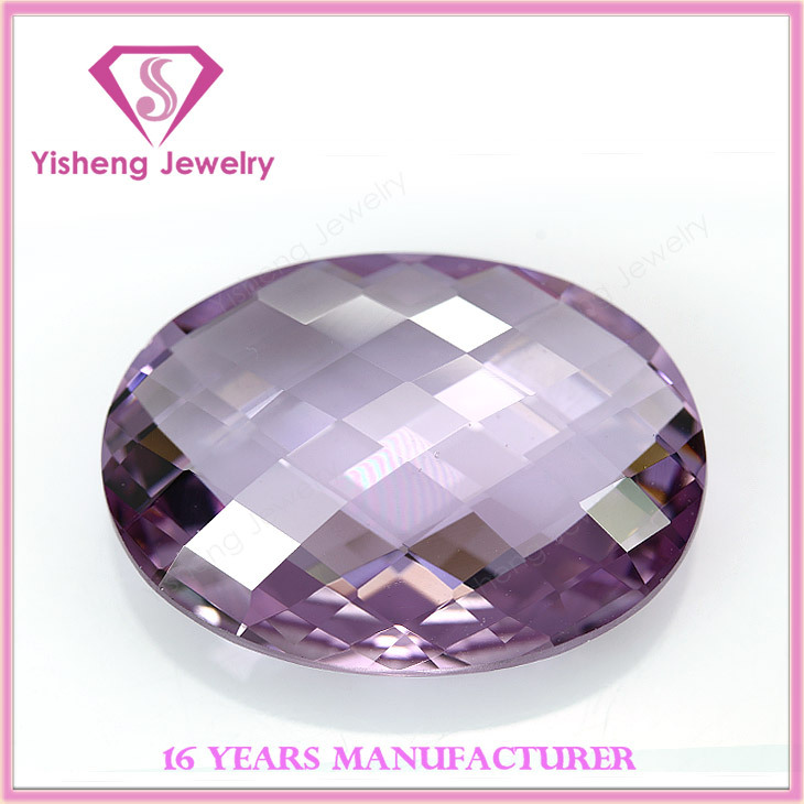 Synthetic Shining Oval Shape Nano Cubic Zirconia Gemstones On Sale