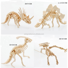 Dinosaur 3D Wooden Puzzle Kids Model Kits Jigsaw Woodcraft Toy