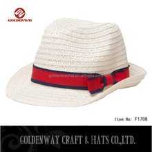 fashion paper straw fedora hat