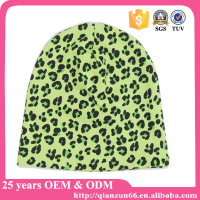 New leopard animal print knit beanie winter ski hat skull cap