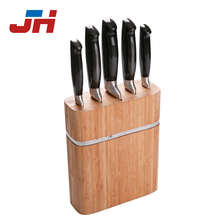 professional 6 pcs stainless steel kitchen knife with bamboo block set
