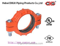 FM /UL Approved Ductile Iron grooved Pipe fitting Heavy-Duty Flexible Grooved Coupling