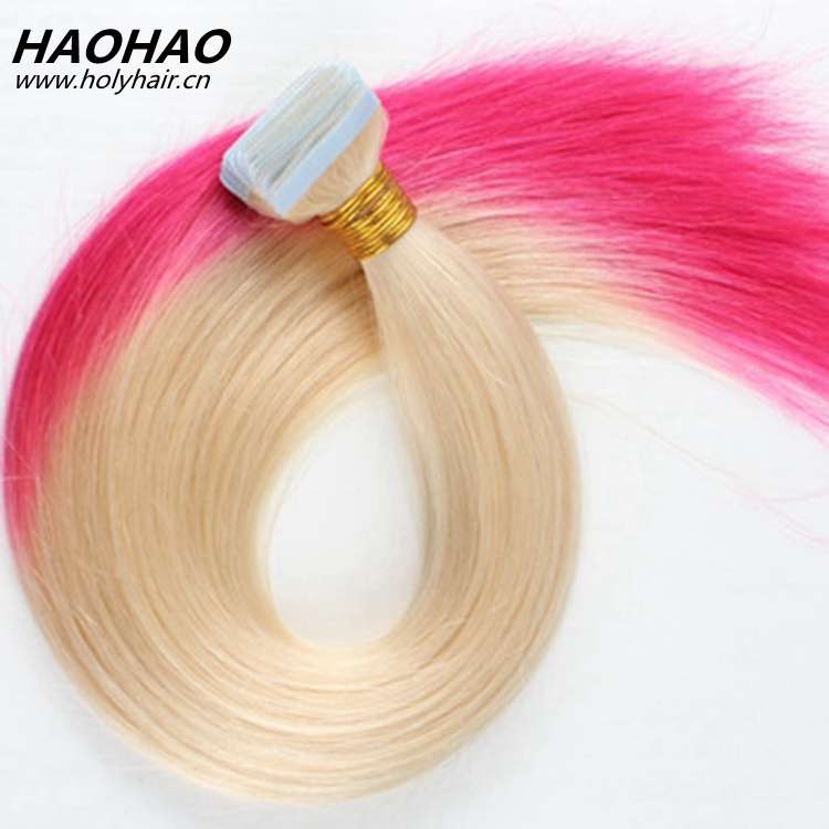 2017 best selling products colored unprocessed virgin human tape hair extension with full cuticle