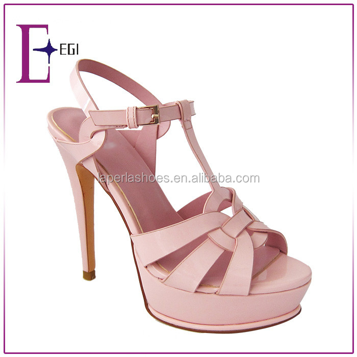New Brand names italian shoes sexy high heel dress sandal for ladies