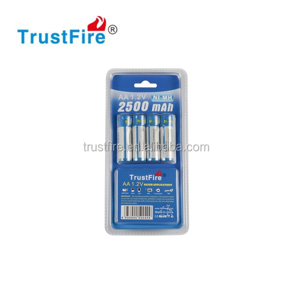NIMH cylindrical battery 1.2V rechargeable aa battery 2500mAh cheap batteries