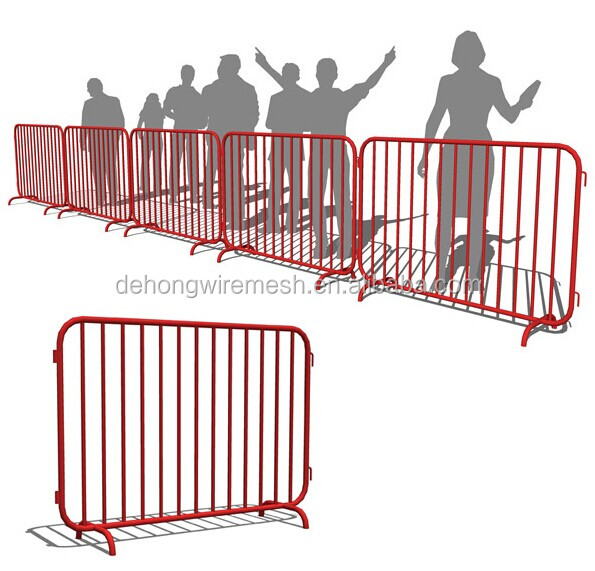 Iron and Galvanized Used crowd control barrier / temporary fence / Concrete barrier