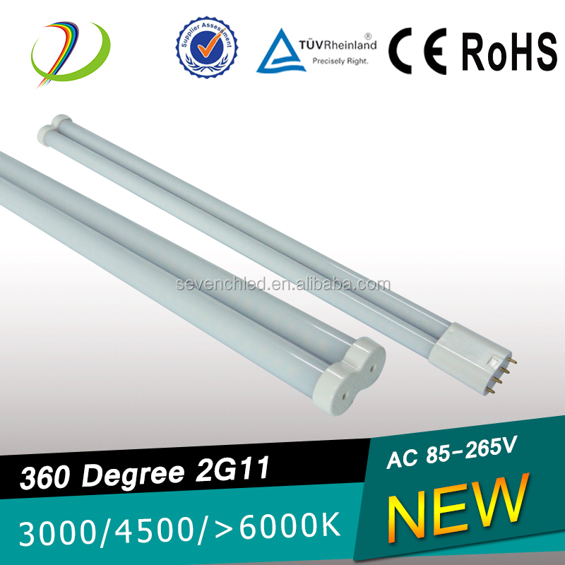 UL CE RoHS 2g11 360 degree New design SMD2835 2G11 remove ballast led Ra>83 PF>0.95 55w fluorescent 2g11 lamp
