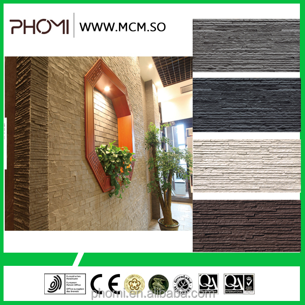 Flexible clay interior and exterior decorative cheap stacked stone tiles