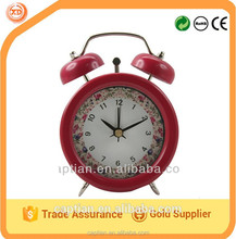 twin bell alarm quartz table clock