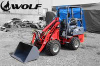 WOLF mini loader Hoflader Radlader with Original Italy Hydrostatic Transmission