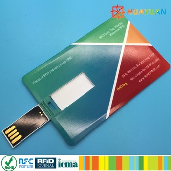 Vibrant colorful LOGO Print 2G, 4G, 8G, 16G, 32G, 64GB, 128GB business credit card usb memory stick flash drive with RFID