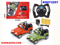 KIDSEASON 1:16 SCALE DIE-CAST RC OPEN JEEP WITH LIGHT - THE DOOR CAN OPEN
