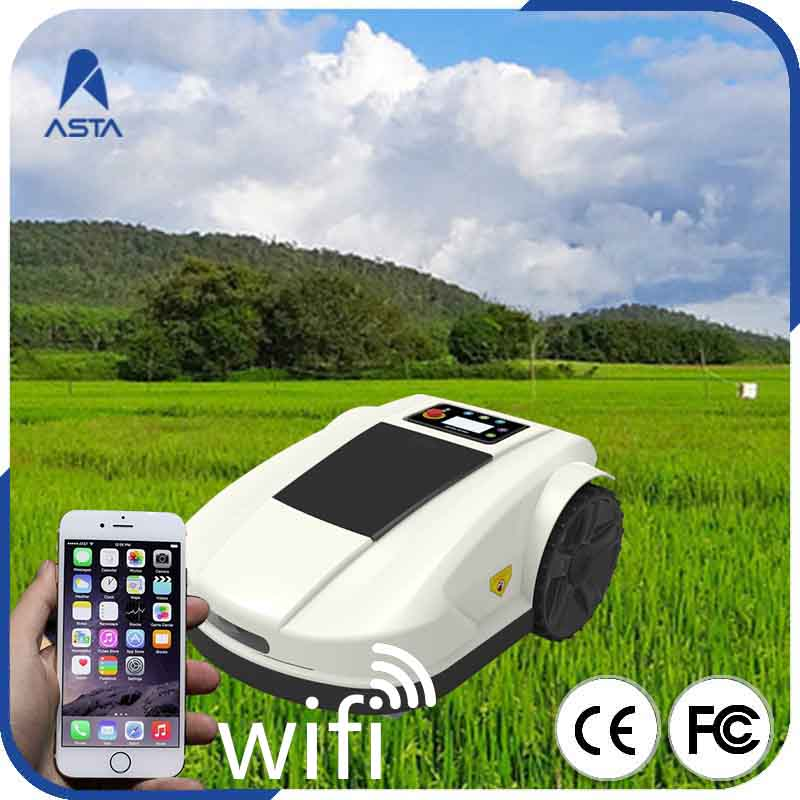 Automatic Wifi App Control Newest 4th Generation s520 Smart Lawn Mower Robot With Water proof Charger