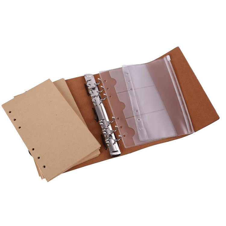 Good Memory Leather Photo Album PU Cover And Meatl Ring Buckle With Top Finishing Fancy Photo Albums
