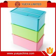 candy colors multifunctional storage box table sundries container box with cover