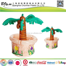 Walmart hot sale drinking buffet cooler pvc beer inflatable palm tree ice bucket