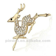 New Design Cz Rhinestone Sika deer fashion necklace 2012 PE60025