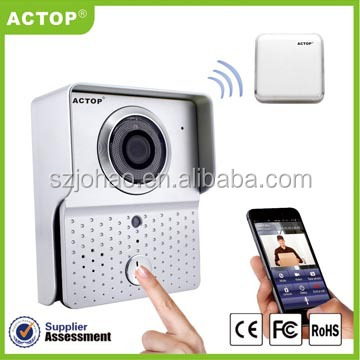 Shenzhen ACTOP home intercom system rainproof golden wifi ip camera,support ISO & Android system