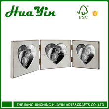 Wooden 3 combination folding picture photo frame