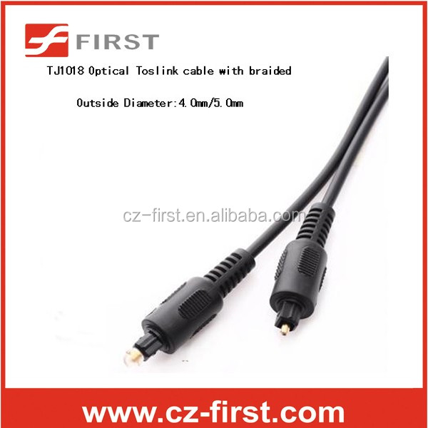(6feet)Toslink Optical Digital Audio Cable Molded Black