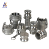 Hot sale stainless steel aluminum brass camlock quick coupling for pipe fittings