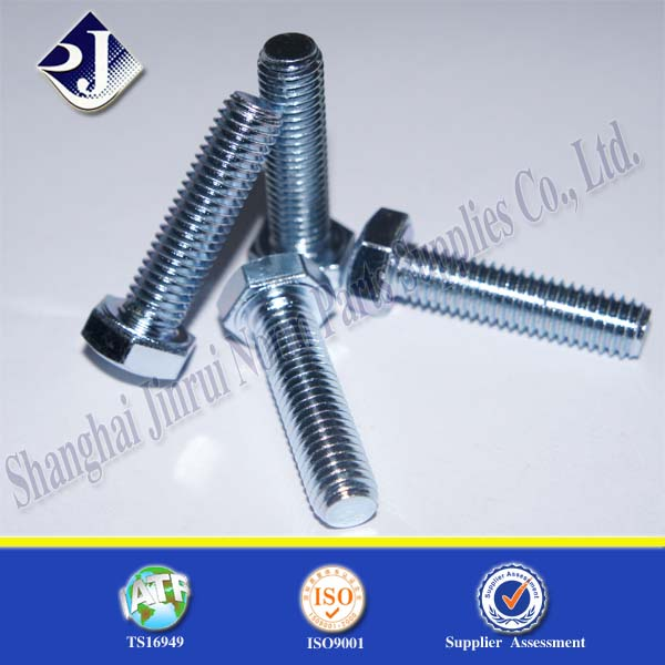 Hot Dip Galvanized Grade 4.8 To 8.8 Carbon Steel Hex Bolt