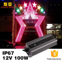 CE Rohs IP67 Outdoor waterproof constant voltage led power supply 12v 100w led dmx driver