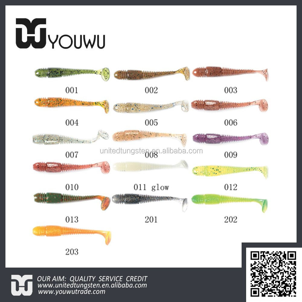 High quality soft fishing bait T-tail Tioga bait