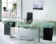Glass manager desk,Glass office executive desk, Modern glass manager table