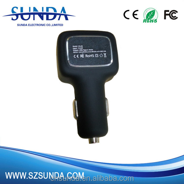 5,9,<strong>12</strong>,15V/2A; 20V/1.5A power delivery-PD car charger