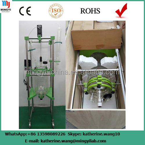 lab pressure vessel/double jacket reactor/lab glass reactor