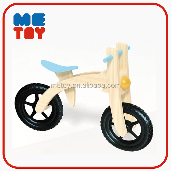 Comfortable safety kids wooden balance bike