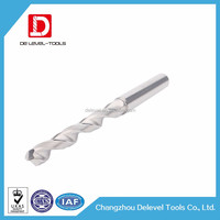 Delevel Tungsten Solid Carbide Drilling tools cutter bits for aluminium machining cutting