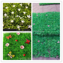 Oranments type artificial grass Seeding lawn artificial boxwood panel/mat for outdoor decoration