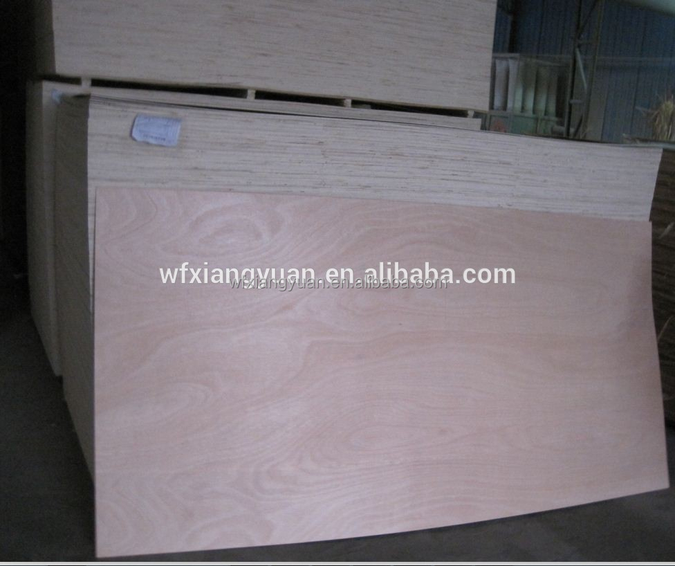 Okume / Bintangor / Cedar / Redwood/ Birch / Keruing / Oak / Teak faced Poplar Plywood 2 mm , thin plywood for sale