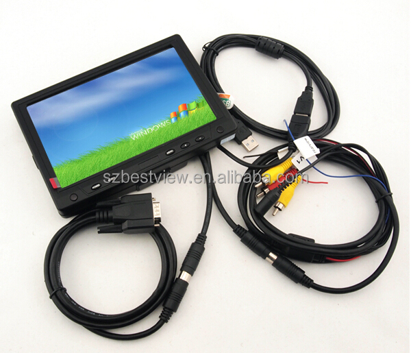 New 7 inch Monitor Display Touch Screen LCD TFT VGA AV RCA For Car DVD PC POS