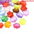 Acrylic Spacer Beads Snowflake At Random 23x21mm,Hole:Approx 1.6mm,50PCs