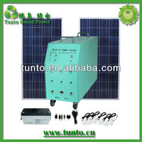 270w portable solar wind hybrid power system for home appliances