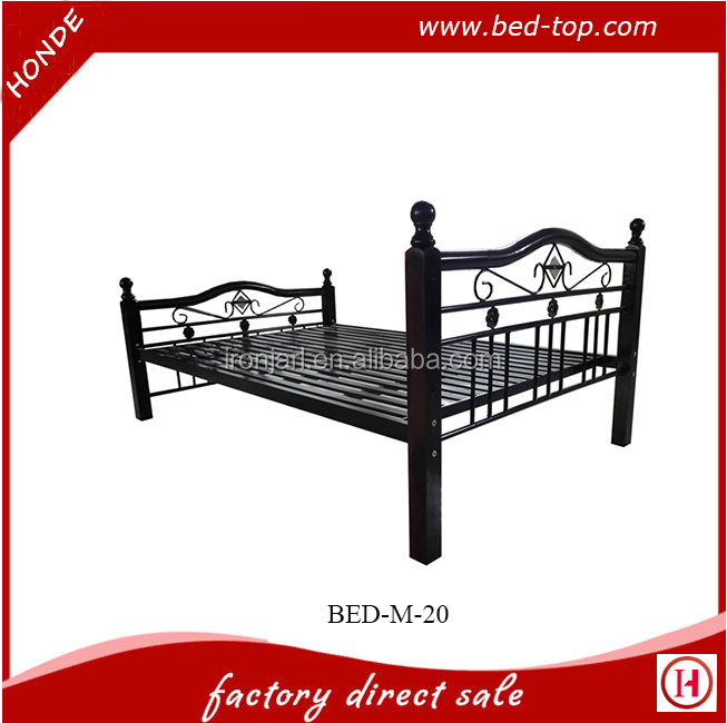 Antique Wrought Iron Metal Double Iron Bed Design Y