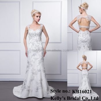 wholesale beautiful new style bridal actual image real picture wedding night dress elegant plain in south africa