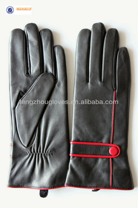 European style leather gloves